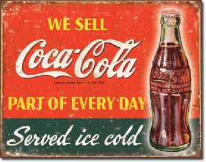 Coca Cola Part of Every Day metal sign   (de)
